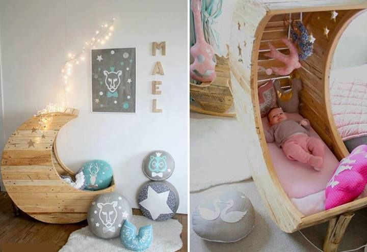 Muebles de madera reciclada para habitaciones de bebés