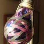 Ideas para tu hogar con esferas escológicas rellenas con listones