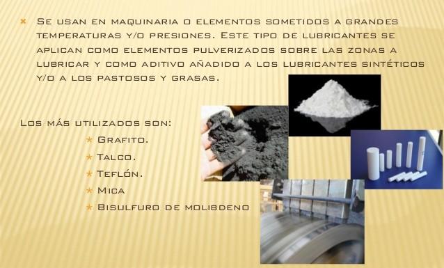 Lubricantes sólidos