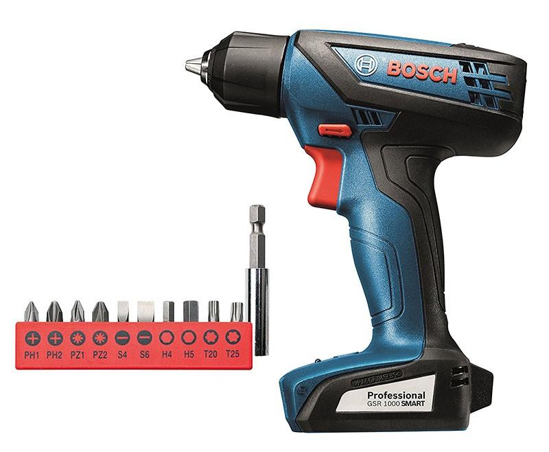 Taladro Atornillador Bosch GSR 1000 Smart + 10 Puntas