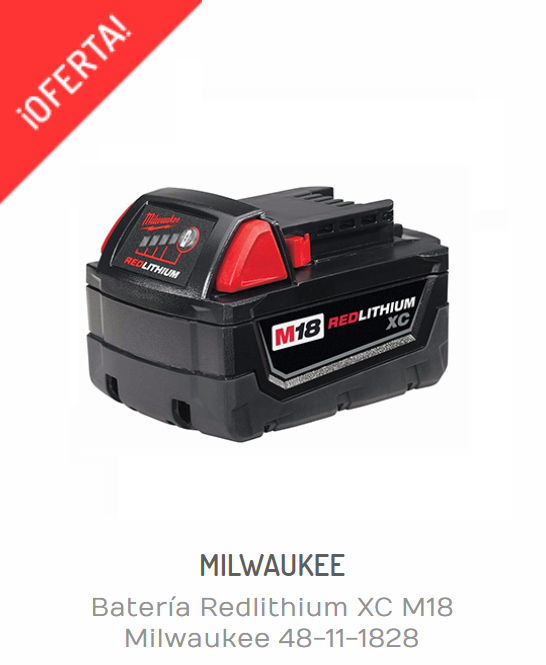 Baterías Milwaukee | BATERÍA REDLITHIUM XC M18 MILWAUKEE 48-11-1828