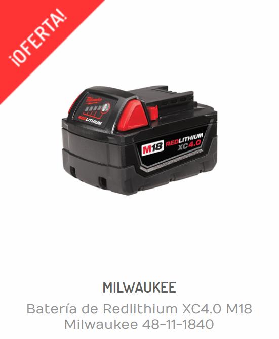 Baterías Milwaukee | BATERÍA DE REDLITHIUM XC4.0 M18 MILWAUKEE 48-11-1840