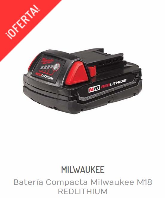 Baterías Milwaukee | BATERÍA COMPACTA MILWAUKEE M18 REDLITHIUM