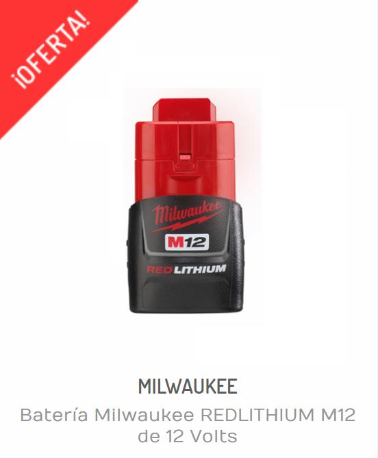 Baterías Milwaukee | BATERÍA MILWAUKEE REDLITHIUM M12 DE 12 VOLTS