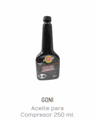 ACEITE PARA COMPRESOR 250 ML. GONI 90009