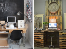 Escritorios reciclados para oficinas modernas
