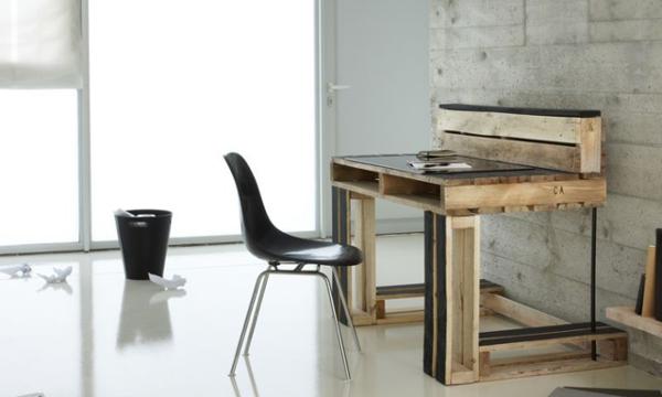 escritorios reciclados con tarimas para oficinas modernas revista ferrepat. Black Bedroom Furniture Sets. Home Design Ideas