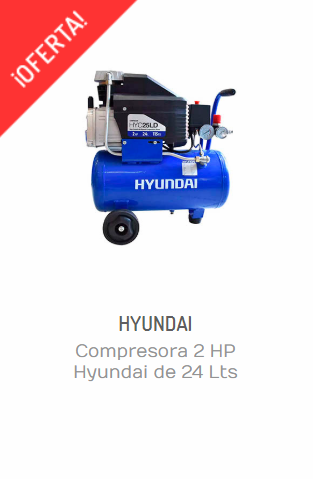 COMPRESORA 2 HP HYUNDAI DE 24 LTS HYC25LDA