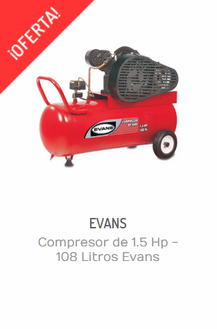 COMPRESOR DE 1.5 HP - 108 LITROS EVANS E13VME150-108