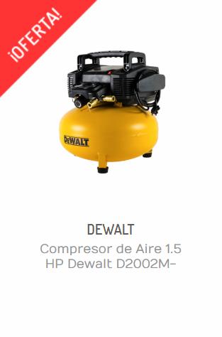 COMPRESOR DE AIRE 1.5 HP DEWALT D2002M-WK