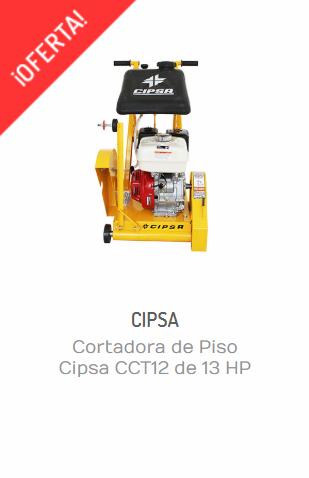 CORTADORA DE PISO CIPSA CCT12 DE 13 HP MOTOR HONDA