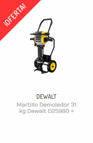 MARTILLO DEMOLEDOR 31 KG DEWALT D25980 + DIABLO D259804