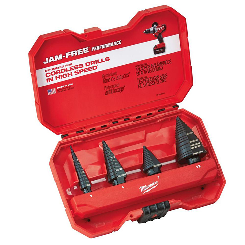 SET DE BROCAS ESCALONADAS 4 PIEZAS MILWAUKEE 48-89-9223