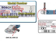 Donde ver el numero de modelo de una herramienta