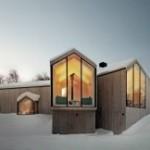 Iluminación cálida con focos LED en invierno