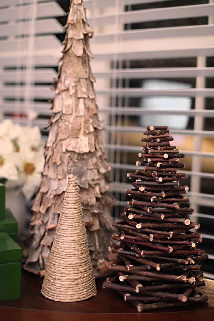 como hacer un arbol de navidad casero-Árbol de navidad rústico