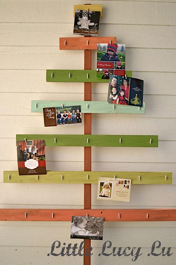 como hacer un arbol de navidad casero-Tarjeta de Navidad del árbol de Navidad
