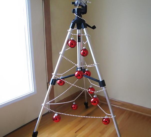 como hacer un arbol de navidad casero-Trípode árbol de navidad
