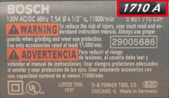 numero de modelo de herramientas bosch