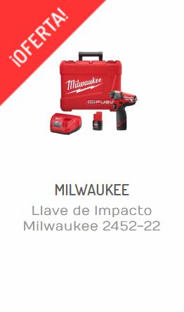 LLAVE DE IMPACTO MILWAUKEE 2452-22-regalar herramientas