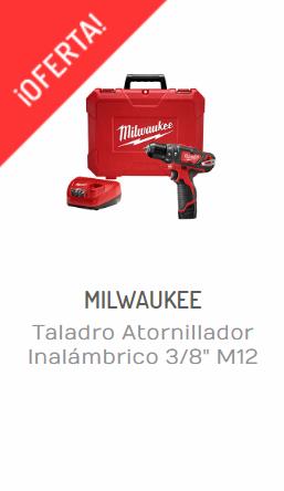 TALADRO ATORNILLADOR INALÁMBRICO 38 M12 MILWAUKEE 2408-21-regalr herramientas
