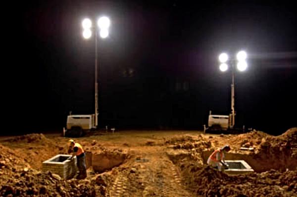 Torres de iluminación para obras de costrucción