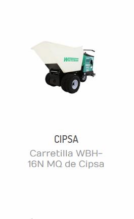 CARRETILLA WBH-16N MQ DE CIPSA CON MOTOR HONDA 13 HP